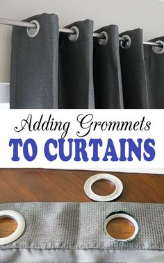 DIY grommet curtains are easy to sew and you can easily change the style to suit you needs or even make your own curtains in an afternoon.