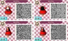 Animal Crossing New Leaf QR code dress 赤ずきんワンピ