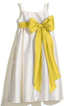 Us Angels Ivory A-Line Dress with Sash (Toddler, Little Girls & Big Girls) | Nordstrom