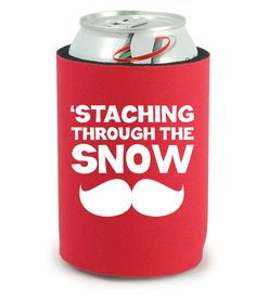 Christmas Koozie - 'Staching Through The Snow - Beer Koozievby BeBopProps