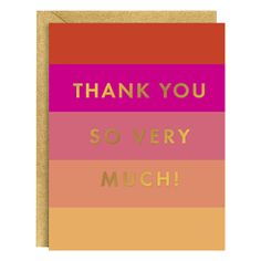 Pink Block Thank You Notecard Set – Hi Sweetheart
