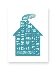Personalisiertes Home-Sweet-Home Poster mit Deinem Text und dem Design von einem Haus-Mint. Poster / fine art Prints online selber machen bei Printcandy. Text Poster, Baby Poster, Family Poster, Sweet Home, Poster Design, Cricut, Mint, Personalized Picture Frames, Personalized Gifts