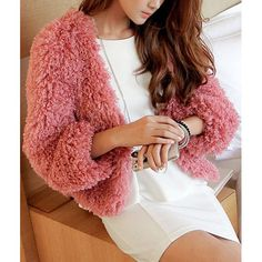 Wholesale New Arrival Long Sleeve Collarless Furry Women's Coat Only $7.62 Drop Shipping | TrendsGal.com