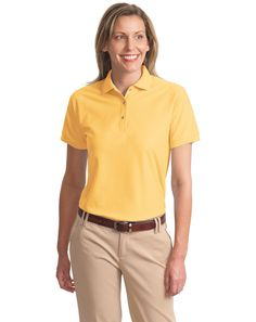 8f802e413a3d9 Port Authority L500 Ladies Silk Touch Polo