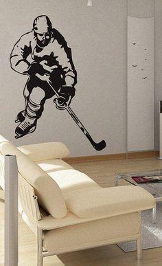 Hockey - uBer Decals Wall Decal Vinyl Decor Art Sticker Removable Mural Modern A224