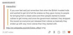Damn the Cobra Effect