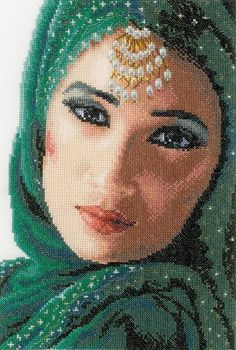 image of Eastern Beauty Cross Stitch Kit (Evenweave)