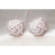 Pearl and Crystal Hurricane Burlesque Pasties ($52) ❤ liked on Polyvore featuring accessories
