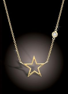 "Rachel Berry necklace! The actual design.  Too expensive! But one day it will be mine! ""Gold stars are kinda my thing"""