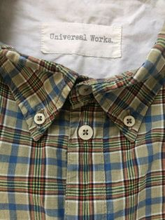 Universal Works shirt Large light brown check short sleeve P2P 22 inches  #universalworks #reclaimedclothing #qualityshirts #mensfashion #slowfashion #clothing #clothingbrands  Visit our ebay page and see all our reclaimed men's clothes. Slow Fashion, Mens Fashion, Universal Works, Men Casual, Brown, Sleeve, Check, Clothing, Mens Tops