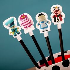 Alice in Wonderland Pook-a-Looz Pencil Toppers