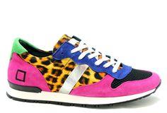 Running sneakers met opvallende luipaardprint van D.A.T.E. €179,95 #date #runners #running #sneakers #luipaard