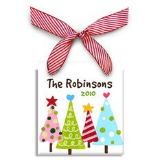 Personalized Christmas Ornament - Funky Trees (Gifts for Christian Occasions / Christian Christmas Decor / Christian Christmas Ornaments) Personalized Gifts For Kids, Personalized Christmas Ornaments, Holiday Ornaments, Christmas Canvas, Christmas Art, Christmas Ideas, Holiday Ideas, Christmas Craft Projects, Holiday Crafts