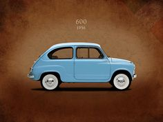 Fiat 600 Print featuring the photograph Fiat 600 1956 by Mark Rogan