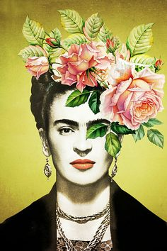 Frida, The Pink Rose Edition van Marja van den Hurk op canvas, behang en meer Frida Kahlo Artwork, Frida Kahlo Exhibit, Diego Rivera Frida Kahlo, Kahlo Paintings, Frida Kahlo Portraits, Frida And Diego, Frida Art, Fridah Kahlo, Look Boho Chic