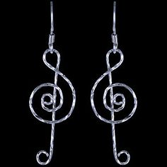 Treble violin clef 925 sterling silver hook by FineJewelryOnly, $24.00