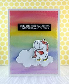 Sharp Designs: Late for an Important Date   wishing you rainbows