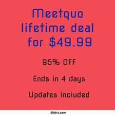 Meetquo is a meeting platform that delivers a different meeting experience. Try this amazing platform with this lifetime deal before it expires. Startups, Sentences, Coupons, Remote, Entrepreneur, Software, Platform, How To Get, Marketing