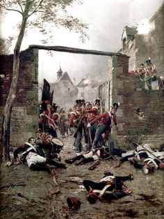 Hougoumont, at the end of the battle...