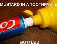 Toothpaste Mustard Prank