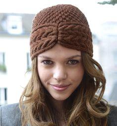 Modèle bonnet esprit turban femme - Modèles tricot accessoires - Phildar