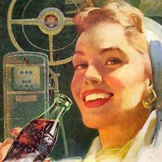 Detail Of Coca-Cola Drive Savely Girl 1953