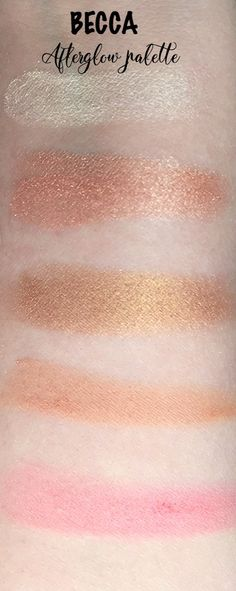 BECCA Cosmetics Afterglow palette swatches daydreamingbeauty.com