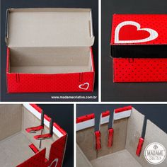 Reciclar Caixa de Sapatos - Como esconder os cabos do computador  -Shoes  Box-  How hide computer cables - DIY tutorial