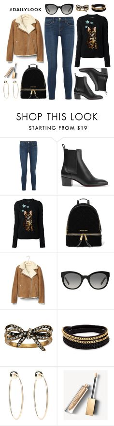 """#DailyLook"" by dressedbyrose ❤ liked on Polyvore featuring L'Agence, Christian Louboutin, Dolce&Gabbana, MICHAEL Michael Kors, Gap, Burberry, Marc Jacobs, Vita Fede and Bebe"