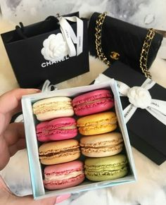 Chanel bag and sweets