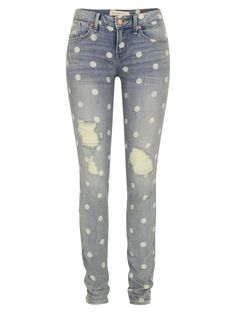 912 Rolled Lily Dot Slim Jeans
