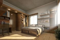 Jaw-Dropping Ideas: Minimalist Home Diy Dreams minimalist bedroom lighting rugs.Minimalist Home Tips Articles minimalist interior wardrobe clothing racks.Minimalist Home Inspiration Life. Modern Rustic Bedrooms, Rustic Bedroom Design, Bedroom Designs, Bedroom Ideas, Bedroom Decor, Bedroom Lighting, Futon Bedroom, Bedroom Shelves, Glam Bedroom
