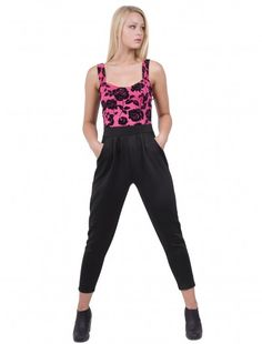 Womens Fashion Coral Flower Jumpsuit     #fashionwholesaler  #onlinefashion #floraldress #ladiesfashion   #jumpsuit #enjoythesale