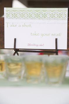 BEST Wedding Escort Cards EVER. Shots! Photography by Aislinn Kate Photography