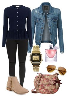 """""""Chic."""" by frenkiefashion on Polyvore featuring LE3NO, Rebecca Taylor, Journee Collection, GUESS, Casio and Lancôme"""