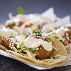 Batter Fried Speckled Trout Tacos by Tenney Flynn