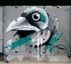 Street Art by Mika, located in Bordeaux, France
