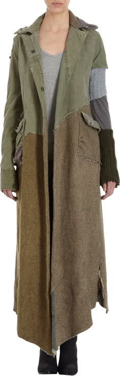 greg lauren the tent blanket batman coat at barneyscom - PIPicStats Quirky Fashion, Boho Fashion, Womens Fashion, Funky Outfits, Bohemian Mode, Altered Couture, Lauren, Mode Inspiration, Barneys New York