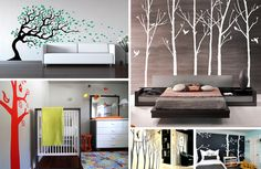 bathroom wall decor stickers   tree wall decals Tree Wall Decals Add Style & Sophistication to Your ...