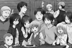 Reiner, Connie, Mikasa, Bertholdt, Marco, Armin, Eren, Annie, Jean, Christa/Historia, Ymir, Attack on titan, AOT, SNK
