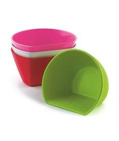 Cuisipro Scoop Bowls: Rest the flat side of these measuring bowls on your cutting board and sweep food inside to quickly and easily transfer freshly chopped ingredients to a pot or pan.