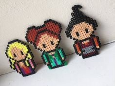 Hocus pocus made with mini hama beads Mini Hama Beads, Hama Beads Disney, Diy Perler Beads, Perler Bead Art, Fuse Beads, Easy Perler Bead Patterns, Melty Bead Patterns, Perler Bead Templates, Beading Patterns