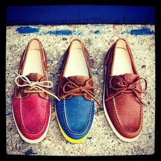 Mocasines colores .....the red and blue are my fav