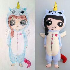 f68dac99ed3e 89 popular custom plush from drawings / Stuffed animals from kid's ...