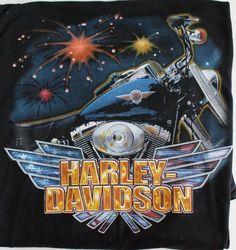 NEW Harley Davidson T Shirt 4XL Mens Black RK Stratman Seattle Fireworks  #HarleyDavidson #GraphicTee