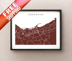 info large sorrento italy map s for free download highresolution and ...