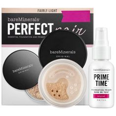 bareMinerals Perfect Pair in Fairly Light - for porcelain-to-light skin with neutral undertones #sephora
