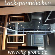 Stunning Lackspanndecke schwarz Spanndecke LED Strahler