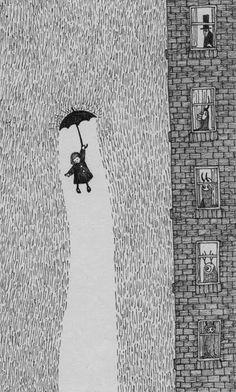 Its raining drawing