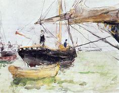 Aboard a Yacht · 1875 - Berthe Morisot